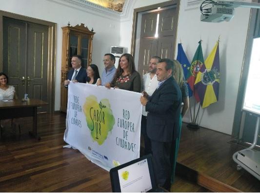 Encuentro en Portugal sobre la Red Europea de Ciudades Sabor Sur y adhesiones de Cámaras Municipales en Reguengos de Monsaraz