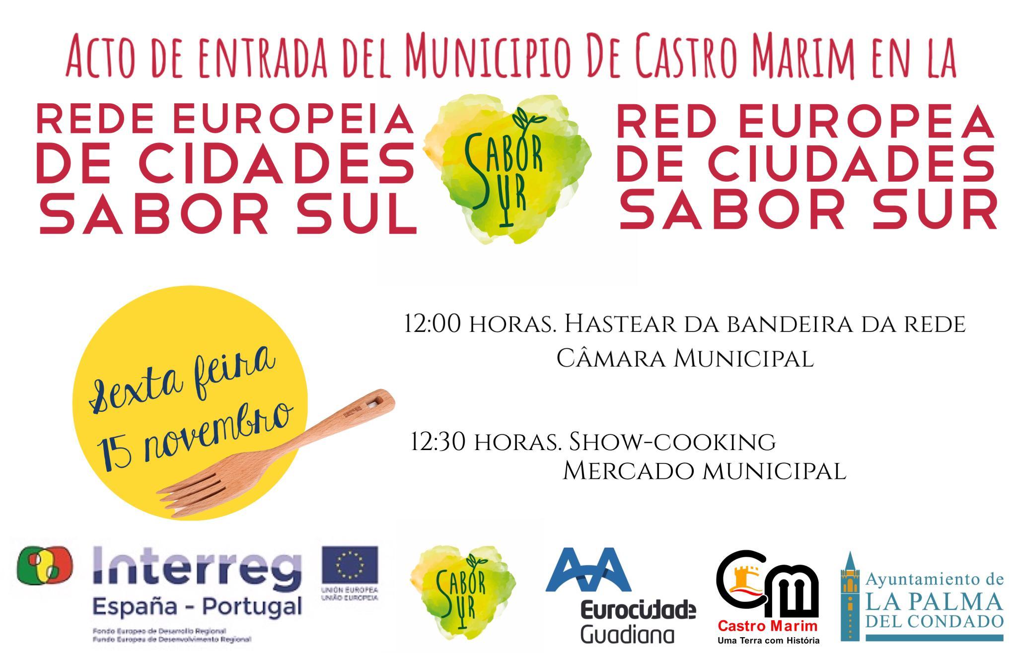 Acto de adhesión de Ayuntamiento de Castro Marim a la Red Sabor Sur e invitación a participar en Laboratorio – Showcooking en Mercado Municipal de Castro Marim (Algarve – Portugal)