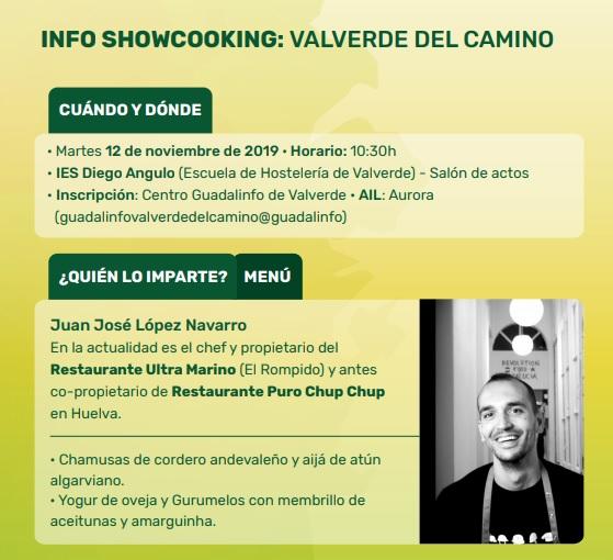 Invitación del socio CFR a participar en Jornadas de Innovación Gastronómica  en Valverde del Camino (Huelva)
